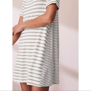 Lou & Grey Striped Signature Soft Tee Dress